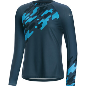 GORE WEAR C5 Trail Longsleeve Jersey Dames, deep water blue/dynamic cyan